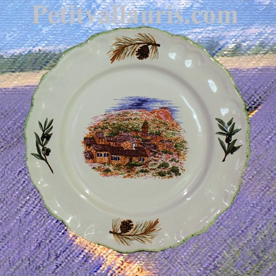 CERAMIC PLATE LOUIS XV MODEL SMALL SIZE PROVENCE DECORATION