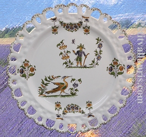 PLATE SUNFLOWER MODEL OLD MOUSTIERS TRADITION DECORATION