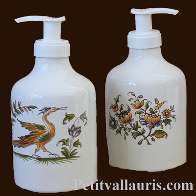 LIQUID SOAP DISPENSER OLD MOUSTIERS TRADITION DECOR