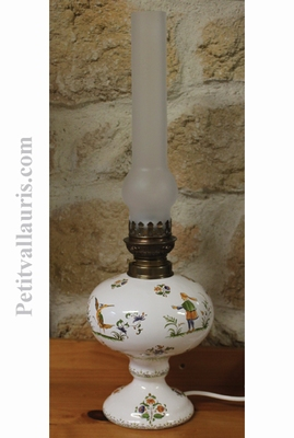 OIL LAMP ELECTRIC MODEL TRADITION OLD MOUSTIERS DECOR