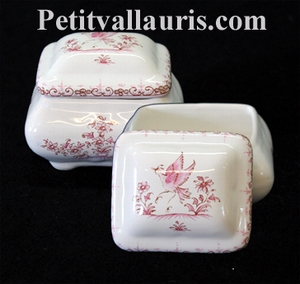 LIMP A JEWELS RECTANGLE MODEL PINK OLD MOUSTIERS DECORATION