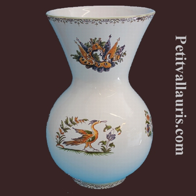 VASE NADINE SIZE 1 MODEL OLD MOUSTIERS TRADITION MOUSTIERS