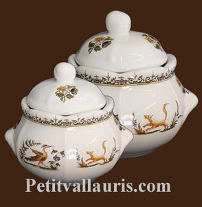 SUGAR BOWL STYLE MODEL OLD MOUSTIERS DECORATION