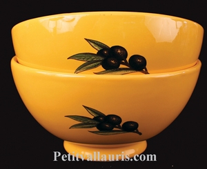 BOWL BLACK OLIVES DECORATION  AND PROVENCAL COLOR