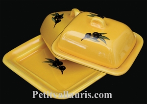 BUTTER BOX PROVENCAL COLOR WITH BLACK OLIVES DECOR