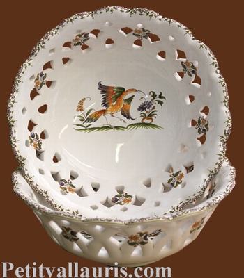 ROUND CUP PERFORATE OLD MPUSTIERS TRADITION DECOR