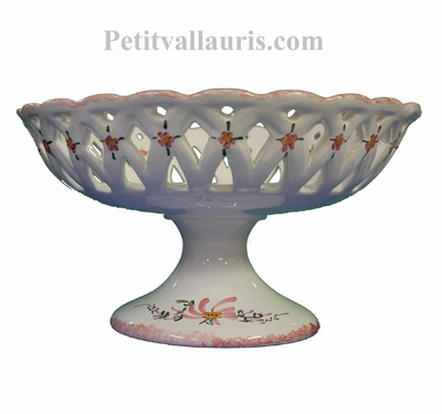 CUP ON FEET PINK COLOR FLOWER DIAMETER 30
