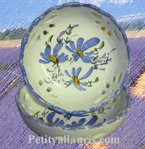 CUPEL PERFORATE MODEL BLUE FLOWER DECOR