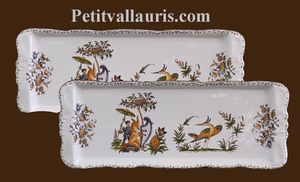 PLAT A CAKE DECOR TRADITION VIEUX MOUSTIERS