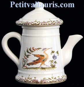 MINIATURE COFFEE POT OLD MOUSTIERS TRADITION DECOR