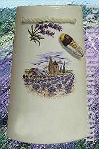 TILE SMALL SIZE PROVENCE LANDSCAPE DECORATION WITH CICADA