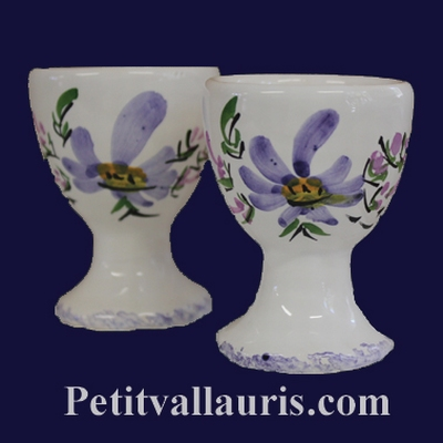 INDIVIDUAL EGG CUP BLUE FLOWERS DECOR