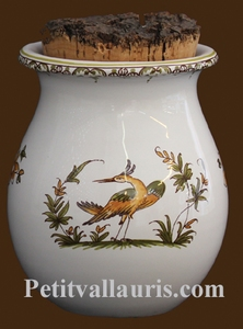 PROVENCE GRASS POT OLD MOUSTIERS TRADITION DECORATION