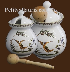 OLIVES POT OLD MOUSTIERS TRADITION DECORATION WITH LADLE