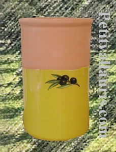 WINE COOLER YELLOW PROVENCAL COLOR WITH BLACK OLIVES