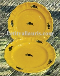 PLATE LOUIS XV MODEL PROVENCALE COLOR WITH BLACK OLIVE