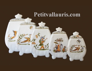 SERIES FAIENCE CHIMNEY POTS OLD MOUSTIERS TRADITION DECOR