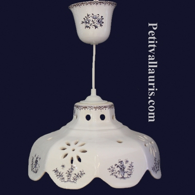 SUSPENSION FACETS OLD BLUE MOUSTIERS TRADITION DECORATION