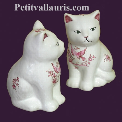 KITTEN OLD PINK MOUSTIERS TRADITION DECORATION