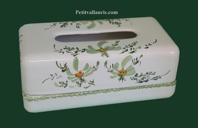 LIMP PAPER HANDKERCHIEFS GREEN FLOWERS COLOR