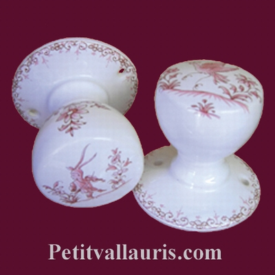 PATERE OLD MOUSTIERS PINK TRADITION DECORATION Unit Price