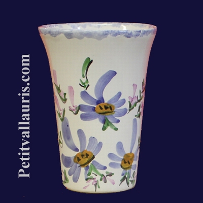 GLASS BLUE FLOWERS DECORATION