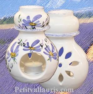 BRULE PERFUME (burn) BLUE FLOWERS DECORATION