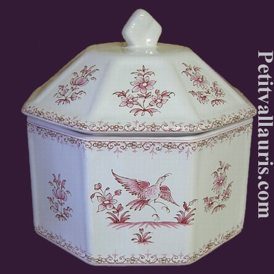 LIMP OCTAGONAL PINK OLD MOUSTIERS TRADITION DECORATION