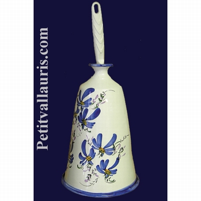 CARRY HAND BRUSH BLUE FLOWER DECORATION