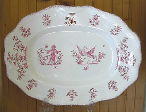 OVAL DISH OF STYLE LOUIS XV