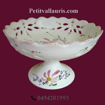 CUP ON FEET PINK COLOR FLOWER DIAMETER 26
