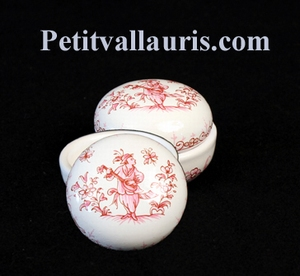 LIMP A JEWELS ROUND PINK OLD MOUSTIERS TRADITION DECOR