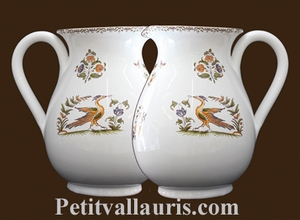 WATER JUG 1 LITER APPROXIMATELY OLD MOUSTIER TRADITION DECOR