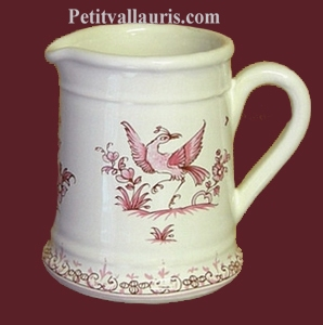 MILK POT OLD MOUSTIERS PINK TRADITION DECORATION