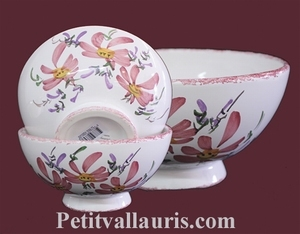 SIMPLE BOWL MODEL PINK FLOWERS DECORATION
