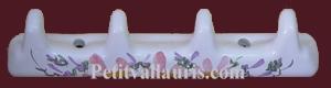 ACCROCHE TORCHONS 4 CROCHETS DECOR FLEURS ROSES