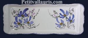 CAKE DISH BLUE FLOWERS DECORATION