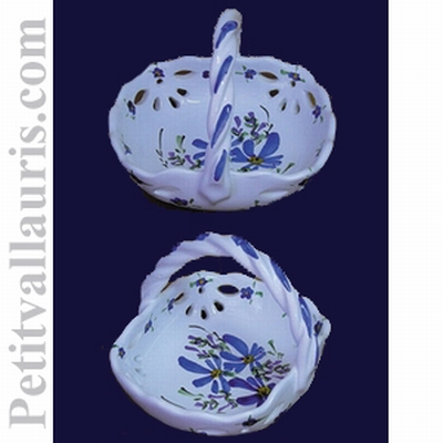 PERFORATED PANNIER BLUE FLOWERS COLOR