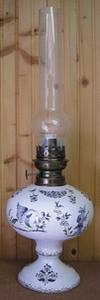 OIL LAMP ELECTRIC MODEL TRADITION BLUE MOUSTIERS DECORATION