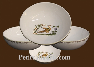 SOUP PLATE OLD MOUSTIERS TRADITION DECORATION