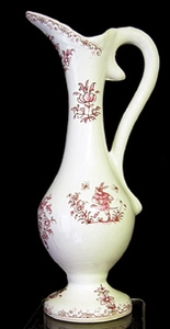 SMALL SIZE EWER OLD PINK MOUSTIERS TRADITION DECORATION