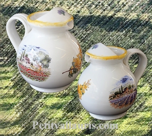 WATER JUG 1 LITER APPROXIMATELY PROVENCE LANDCAPE DECOR