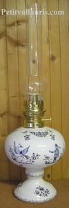 OIL LAMP CLASSIC MODEL TRADITION BLUE OLD MOUSTIERS DECOR