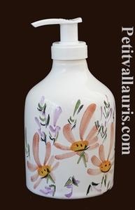 LIQUID SOAP DISPENSER SALMON FLOWER DECORATION