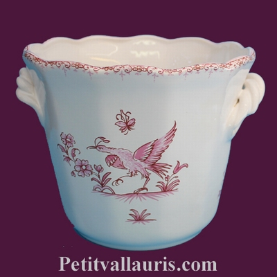 LITTLE PLANT POT PINK OLD MOUSTIERS TRADITION DECORATION