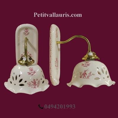 APPLIQUE MODELE COL DE CYGNE DECOR TRADITION MOUSTIERS ROSE