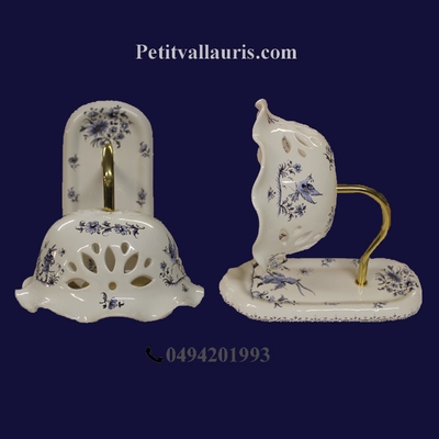 APPLIQUE MODELE COL DE CYGNE DECOR TRADITION MOUSTIERS BLEU