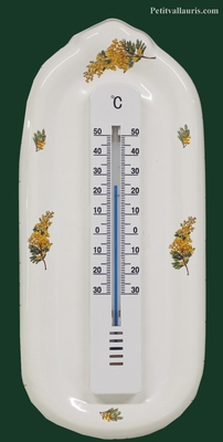 THERMOMETER WITH MURAL SUPPORT MIMOSAS PROVENCE DECOR