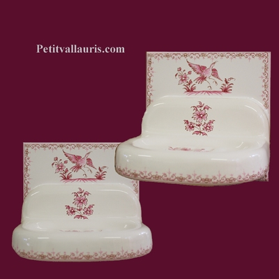 WALL CARRY SOAP ON TILE PINK OLD TRADITION MOUSTIERS DECOR