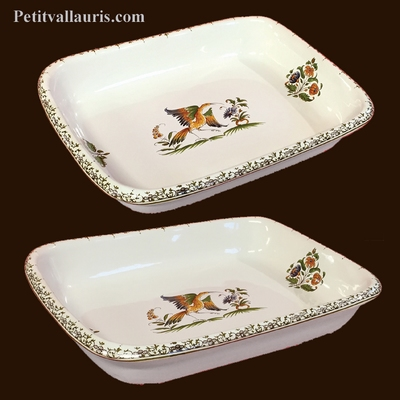 DISH FOR COOKING SIZE 2 OLD MOUSTIERS TRADITION DECORATION